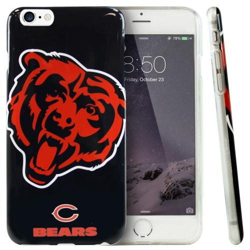 Apple iPhone 6/ 6S Case, NFL Licensed [Chicago Bears]  Slim & Flexible Anti-shock Crystal Silicone Protective TPU Gel Skin Case Cover