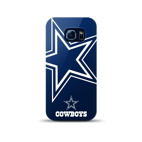 Samsung Galaxy S6 Edge Case, NFL Licensed [Dallas Cowboys]  Slim & Flexible Anti-shock Crystal Silicone Protective TPU Gel Skin Case Cover