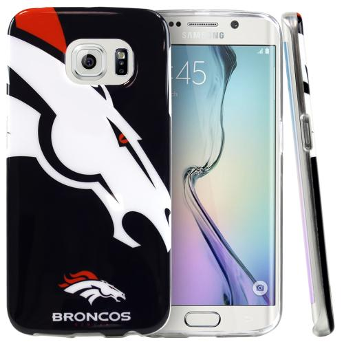 Galaxy S6 Edge Case, NFL Licensed [Denver Broncos] Protective Silicone TPU Case For Samsung Galaxy S6 Edge