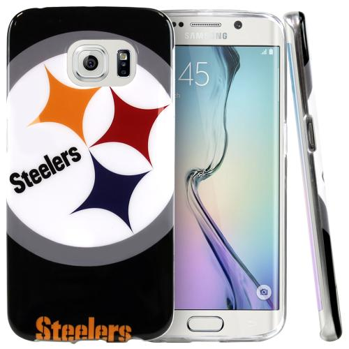 Galaxy S6 Edge Case, NFL Licensed [Pittsburgh Steelers] Protective Silicone TPU Case For Samsung Galaxy S6 Edge
