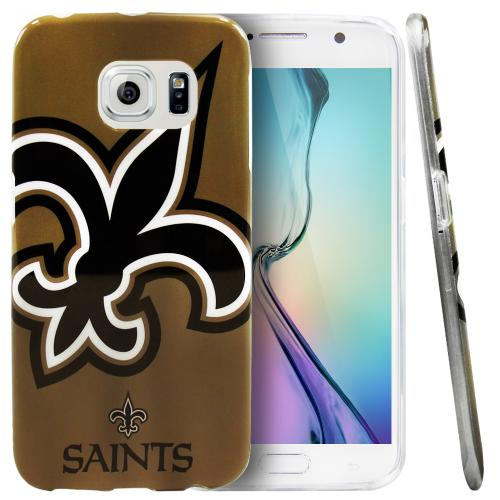Galaxy S6 Edge Case, NFL Licensed [New Orleans Saints] Protective Silicone TPU Case For Samsung Galaxy S6 Edge