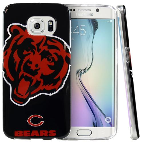 Samsung Galaxy S6 Edge Case, NFL Licensed [Chicago Bears]  Slim & Flexible Anti-shock Crystal Silicone Protective TPU Gel Skin Case Cover