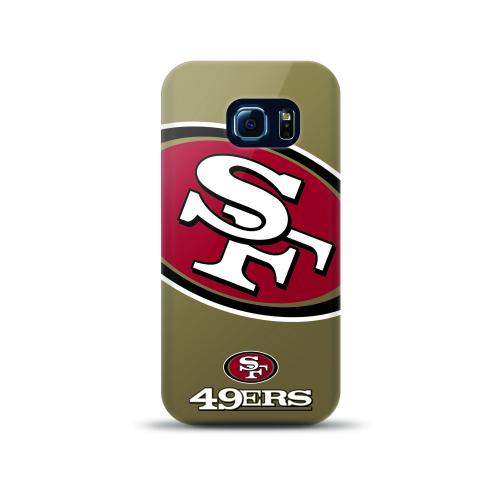 Samsung Galaxy S6 Edge Case, NFL Licensed [San Francisco 49ers]  Slim & Flexible Anti-shock Crystal Silicone Protective TPU Gel Skin Case Cover