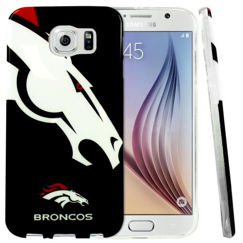 Galaxy S6 Case, NFL Licensed [Denver Broncos] Protective Silicone TPU Case For Samsung Galaxy S6