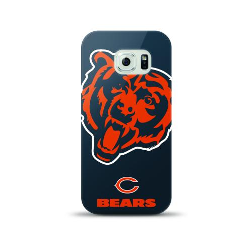 Samsung Galaxy S6 Case, NFL Licensed [Chicago Bears]  Slim & Flexible Anti-shock Crystal Silicone Protective TPU Gel Skin Case Cover