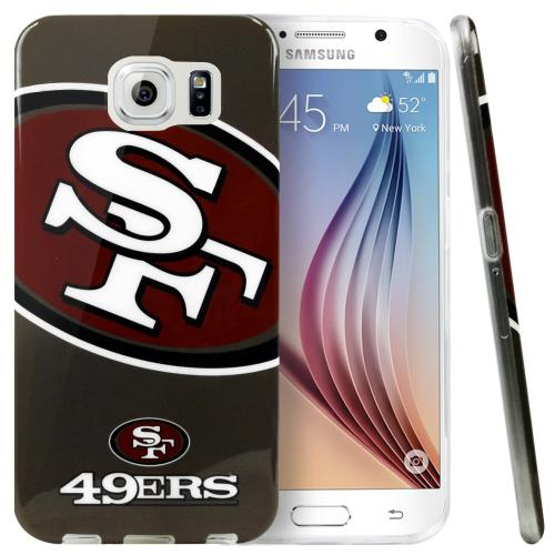 Galaxy S6 Case, NFL Licensed [San Francisco 49ers] Protective Silicone TPU Case For Samsung Galaxy S6