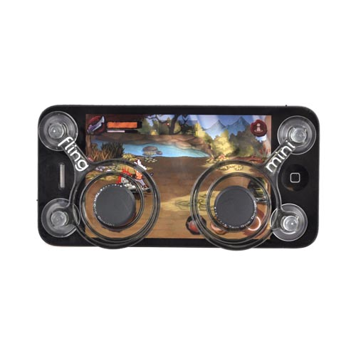 Original Ten One Design iPhone, iPod, Android Fling Mini Joystick Controller 2-Pack, T1-FM2P-101 - Clear, Black