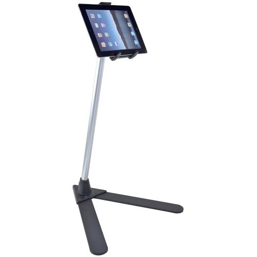 Arkon Black Tablet Stand - 4' Tablet Stand with Height Adjustable Aluminum Shaft & Weighted V-Shaped Base
