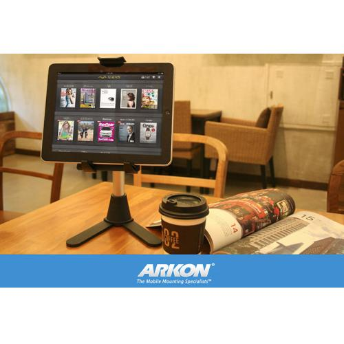 "Arkon Black Tablet Stand - 10"" Mini Desk or Table Stand for Tablets"