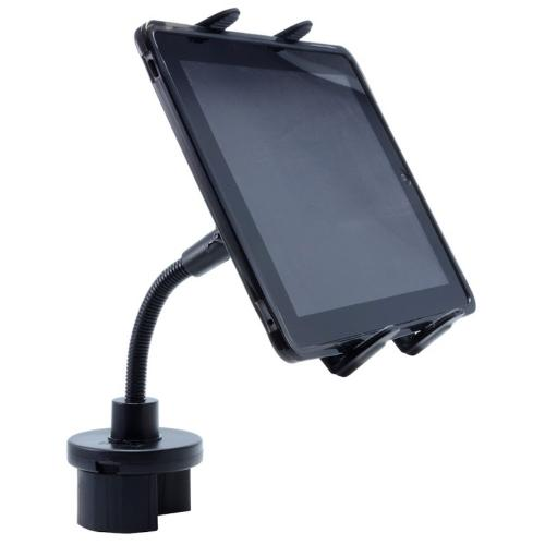 Arkon Black Tablet Mount Bundle - Cup Holder Mounting Pedestal with Flexible Gooseneck (TAB001 + GN033-SBH)