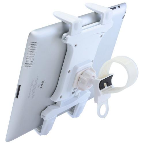 Arkon White Tablet Mount with Zip-Tie Style Strap Mount (TAB002-W + GN034-SBH-W)