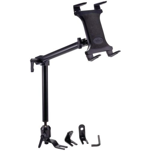 Arkon Black Tablet Mount Bundle - 22in Heavy-Duty Aluminum Seat Rail Floor Mount (HD001 + TAB001)