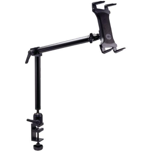 Arkon Black Tablet Mount Bundle - 22in Heavy-Duty Aluminum C-Clamp Desk or Cart Mount (HD002 + TAB001)