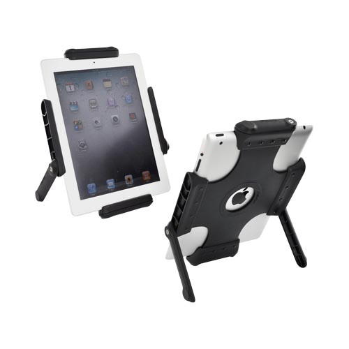 Original Tab Grip 2 Apple iPad 2/ 3 Silicone Back Holder w/ Stands - Black