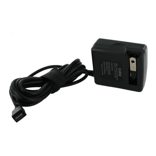 Universal Micro USB Travel Wall Charger w/ Folding Prongs - Black