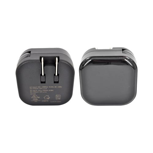 2-in-1 Universal Car & Travel Charger w/ 2 USB Ports - Black