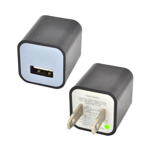 Apple iPhone 3G/ 3GS/ 4/ 4S USB Input Travel/ Home Wall Charger Adapter (1000 mAh) - Black