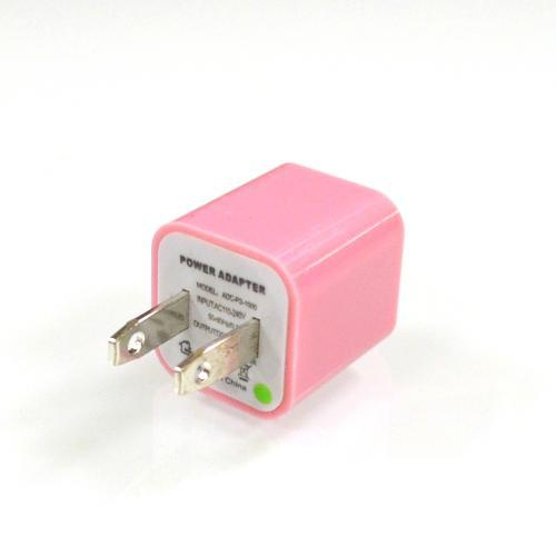 Baby Pink Apple iPhone 3/ 4/ 5/ SE USB Input Travel/ Home Wall Charger Adapter - XXIP4