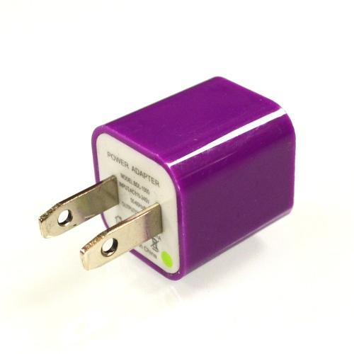 Purple Universal Apple iPhone USB Input Travel/ Home Wall Charger Adapter