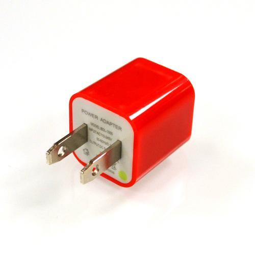 Red Apple iPhone 3/ 4/ 5/ SE USB Input Travel/ Home Wall Charger Adapter