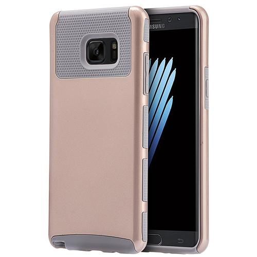 Samsung Galaxy Note 7 Case, REDshield Hard Cover on TPU Hybrid Dual Layer Case [Gold/ Gray]