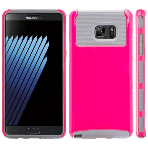Samsung Galaxy Note 7 Case, REDshield Hard Cover on TPU Hybrid Dual Layer Case [Hot Pink/ Gray]