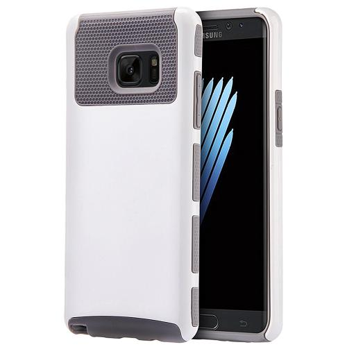 Samsung Galaxy Note 7 Case, REDshield Hard Cover on TPU Hybrid Dual Layer Case [White/ Gray]