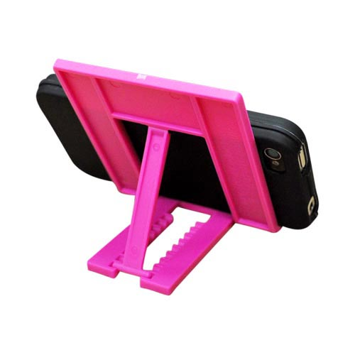 Tiko Fold Travel iPhone 4, Droid X, EVO 4G Cell Phone Stand for Portable Video Players - Hot Pink
