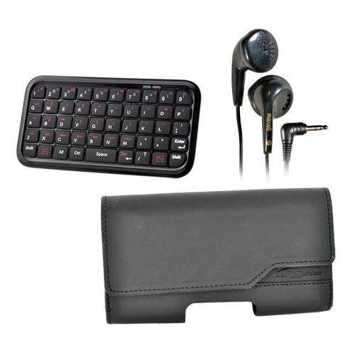 T-Mobile G2 Bundle Package - Bluetooth Keyboard & Carrying Case & Maxell Stereo Earbuds - (Workaholic Combo)