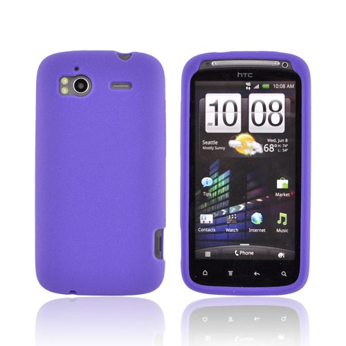 Original T-Mobile HTC Sensation 4G Gel Skin Silicone Case - Purple