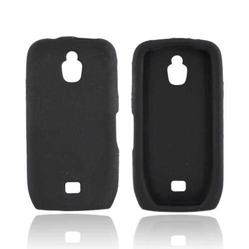 Original Samsung Exhibit 4G Gel Skin Silicone Case - Black
