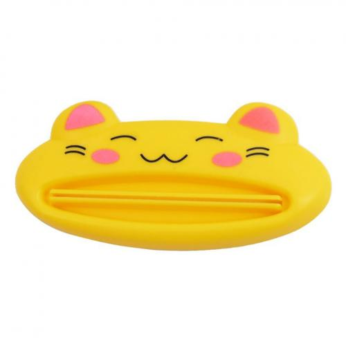 Geeky Yellow Kitty Cat Toothpaste Dispenser Squeezer - Make Your Toothpaste Last!