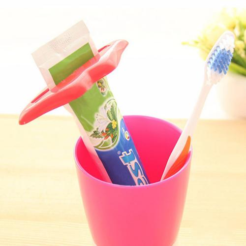 2-PK Lips Shaped Toothpaste Dispenser Squeezer [Red] - Make Your Toothpaste Last!