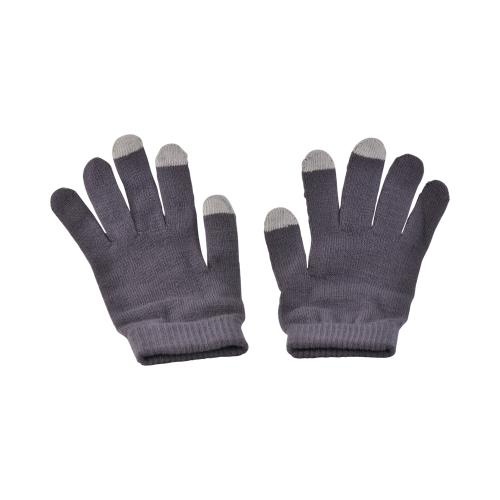 Gray/ Light Gray Universal Capacitive Touch Screen Gloves (One Size)