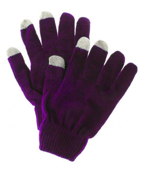 Touchscreen Gloves for Smartphone, Texting Gloves - Unisex [Purple/ Gray]