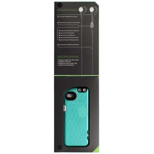 Apple iPhone SE / 5 / 5S Case, TurtleCell [Mint] Premium Hard Case w/ Retractable Headphones and Modern Hexagonal Pattern for Apple iPhone SE / 5 / 5S