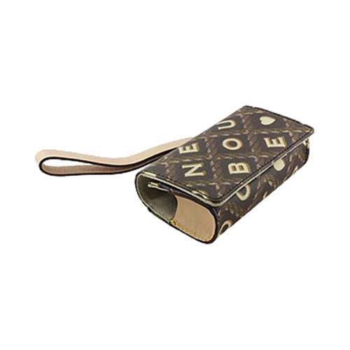 Original Dooney & Bourke Universal Pouch Case w/ Card Holders and Magnetic Closure and Strap, UC15CF - Brown (PUTL)