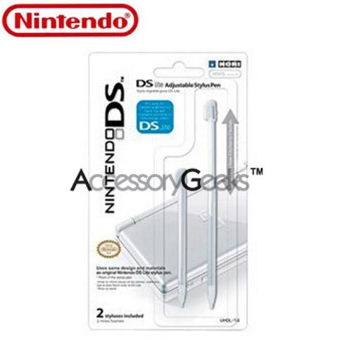 Original Nintendo DS Lite Adjustable Stylus Pens (2 Pack) - White