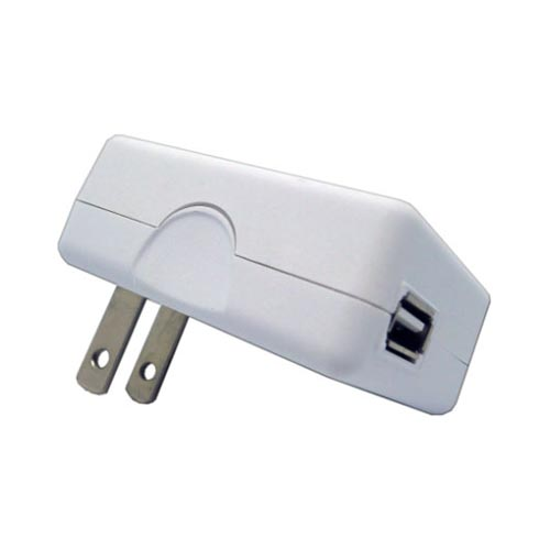 Universal 3 in 1 Car & Travel USB Charger for Apple iPhone/ iPod Touch (800 mAh) - White