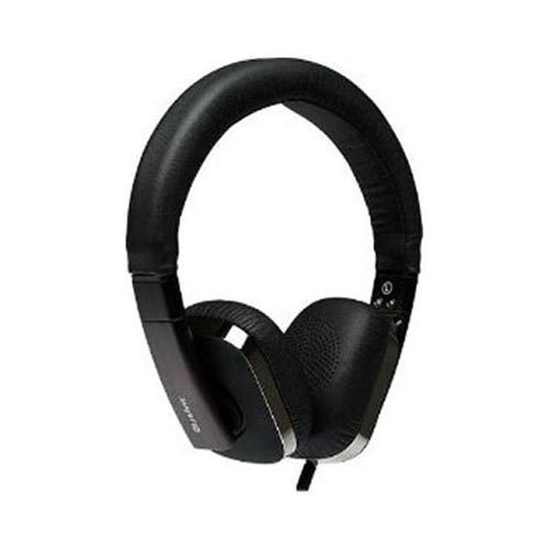 Original Blue Ant Embrace Universal Stereo Headphones (3.5mm) w/ Carrying Case & Apple Remote Cable, US-BAW-EMBRACE - Black