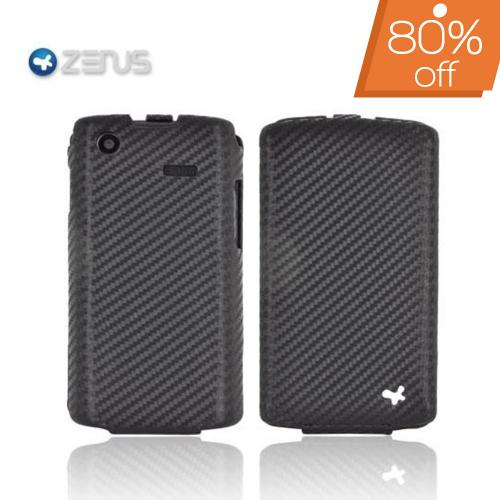 Original Zenus Samsung Captivate i897 Prestige Leather Case Carbon Folder Series - Black Carbon Fiber