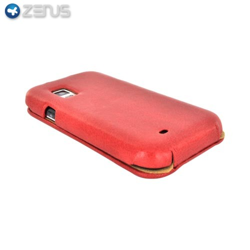 Original Zenus Samsung Captivate i897 E'stime Leather Case Folder Series - Royal Red