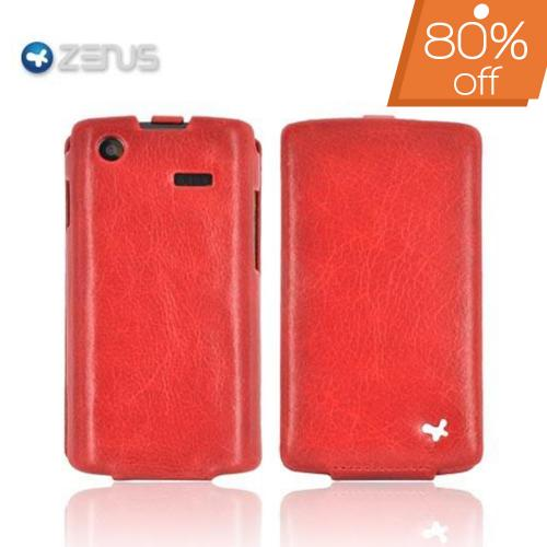 Original Zenus Samsung Fascinate i500 E'stime Leather Case Folder Series - Royal Red