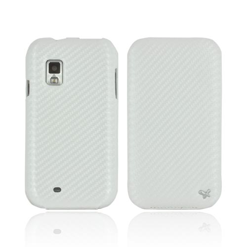 Original Zenus Samsung Fascinate i500 Prestige Leather Case Carbon Folder Series - White