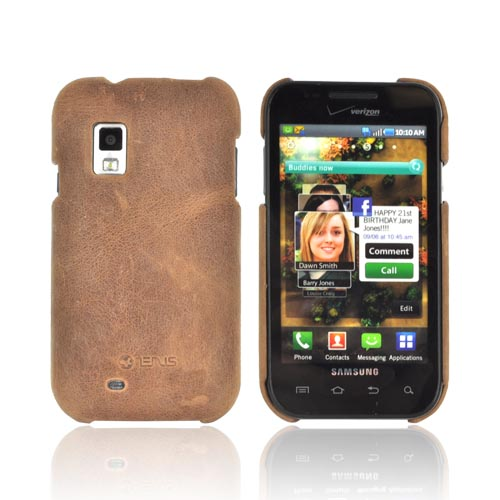 Original Zenus Samsung Fascinate i500 E'stime Leather Case Bar Series - Vintage Brown
