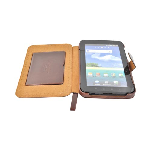 Original Zenus Samsung Galaxy Tab 8.9 Masstige Folder Series Leather Stand Case - Antique Book Brown