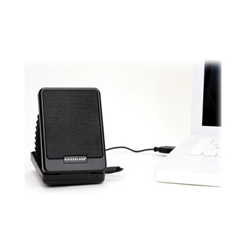 Original Kikkerland Accordion Style Universal Portable Folding Speaker (3.5mm), US10 - Black