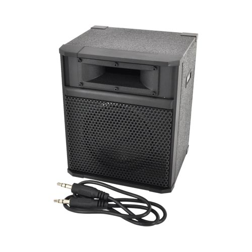 Original Kikkerland Universal Portable Rock'n Speaker Amp w/ Bass Reflex System (3.5mm), US16 - Black