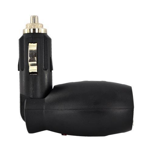 Universal USB Dual Vehicle Charger Adapter (700 mAh) - Black