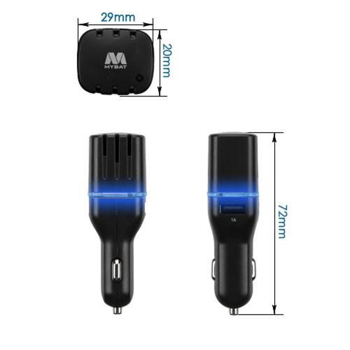 Car Charger w/ Air Purifier(w/ Dual USB output)(3.1A) [Black]